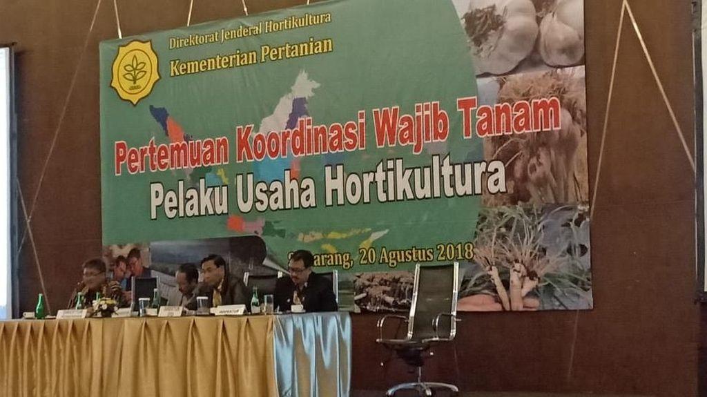 Kementan Tagih Komitmen Importir Tanam Bawang Putih