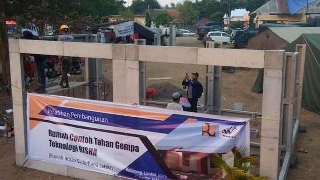 Biaya Rp 50 Juta/Unit, Rumah Tahan Gempa di Lombok Kelar 6 Bulan