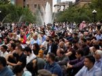 Ketika Umat Muslim AS Salat Idul Adha di Washington Square Park
