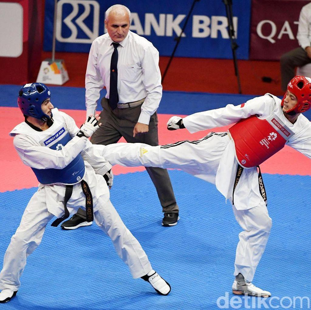 Ibrahim Zarman Berhasil Tundukkan Atlet Taekwondo Uzbekistan