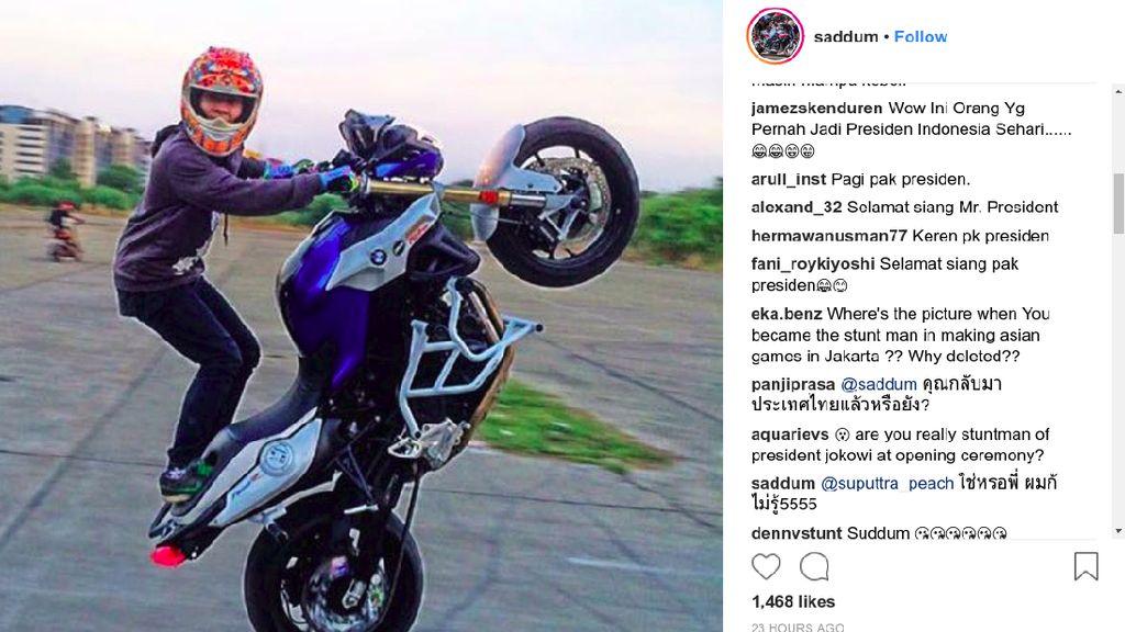 Stuntman Jokowi Diserbu Netizen Indonesia