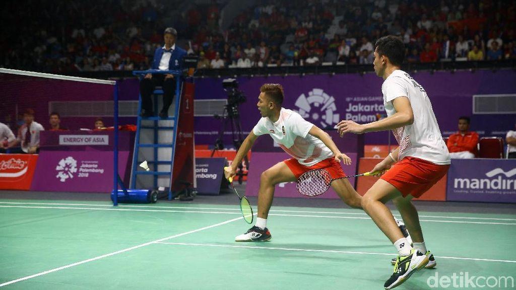 SBY Nonton Langsung Kemenangan Fajar/Rian