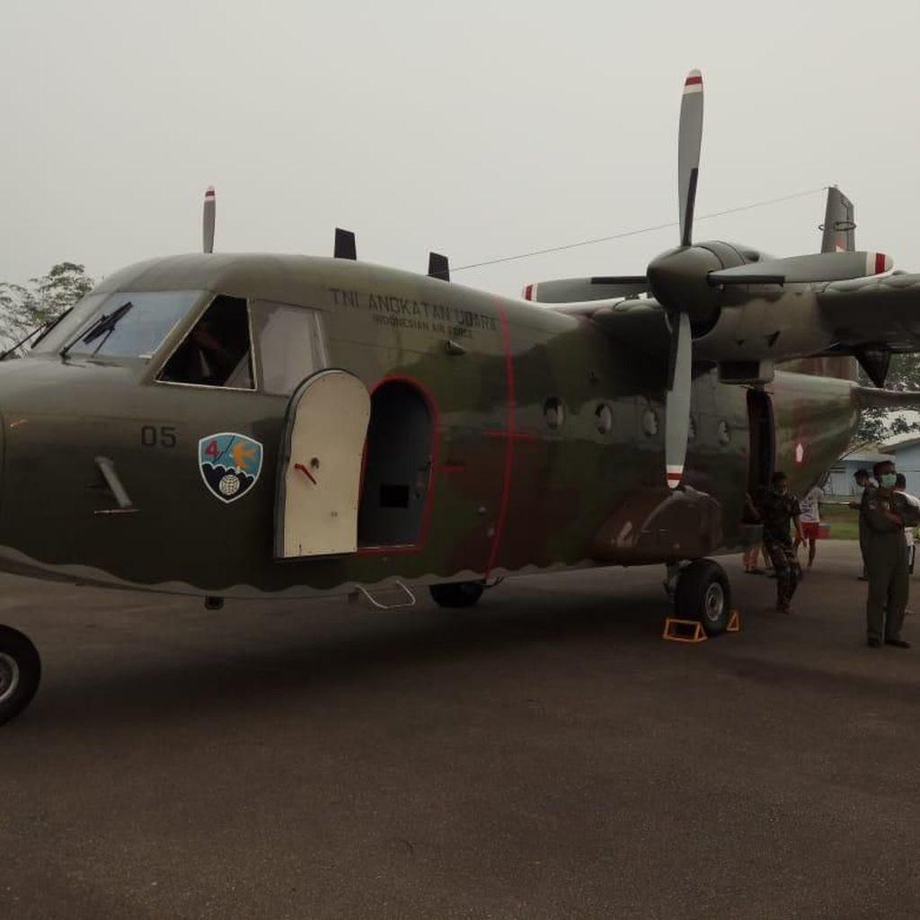 Pesawat Hercules Disiapkan untuk Hujan Buatan di Riau