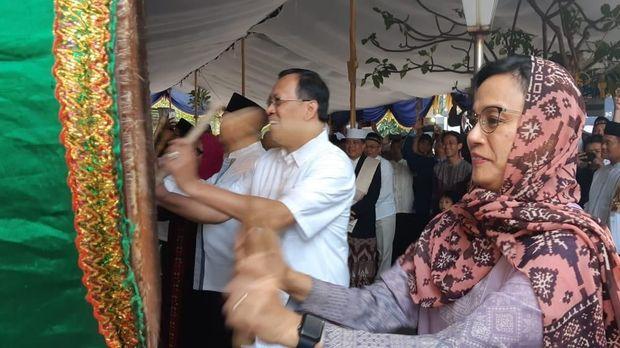 Sri Mulyani dan Menteri-menteri Jokowi Rayakan Idul Adha di Kantor Pajak