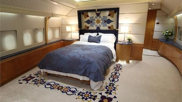 Ruang tidur di dalam pesawat