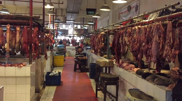 Harga Daging Sapi di Pasar Senen Masih Normal