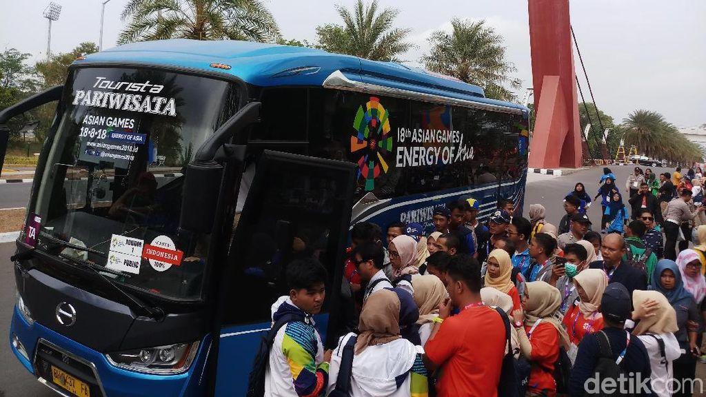 Berebut Naik Shuttle Bus Asian Games 2018 di Jakabaring