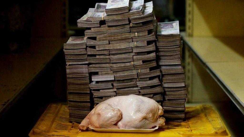 Mata Uang Venezuela Ambruk, Harga Tisu Rp 2 Juta, Ayam Rp 14 Juta