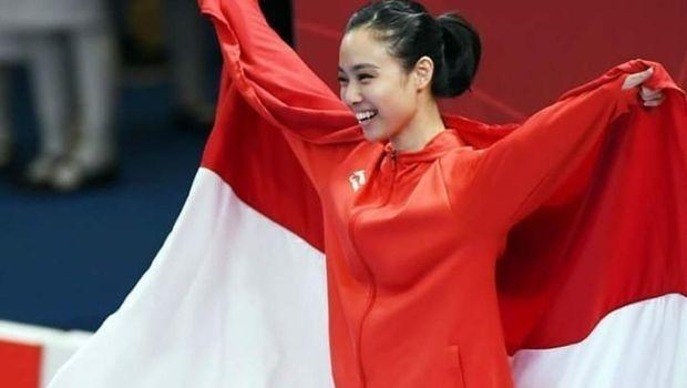 LIndswell Kwok saat tampil di Asian Games 2018.