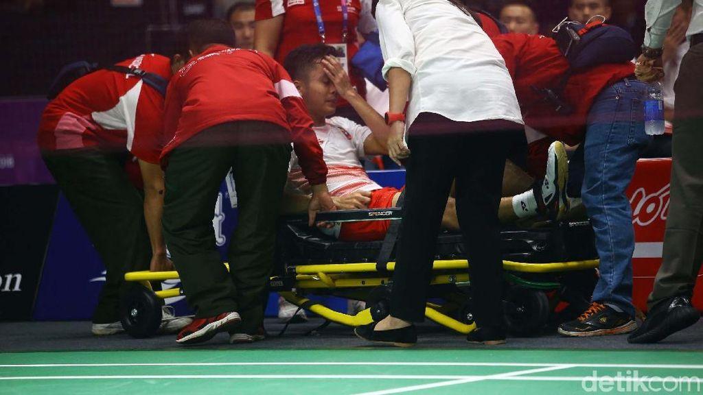 Kalah, Anthony Ginting Sudah Mati-matian Sampai Cedera