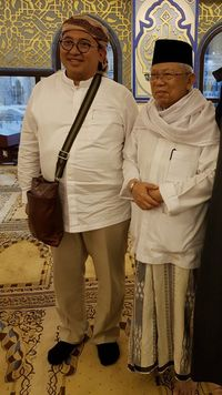 Fadli Zon bertemu Ma'ruf Amin di Mina /
