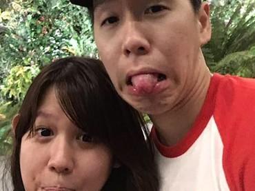 Pasangan suami istri ini juga bisa gokil lho. (Foto: Instagram/ @marcusfernaldig)