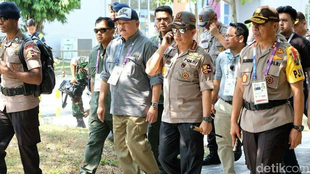 Tinjau Jakabaring, Kapolri Pastikan Asian Games 2018 Berjalan Lancar