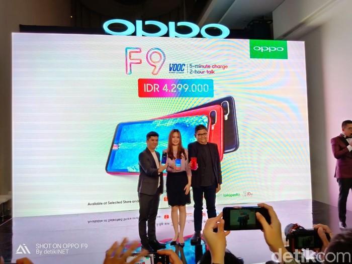 Peluncuran OPPO F9. Foto: detikINET/Adi Fida Rahman