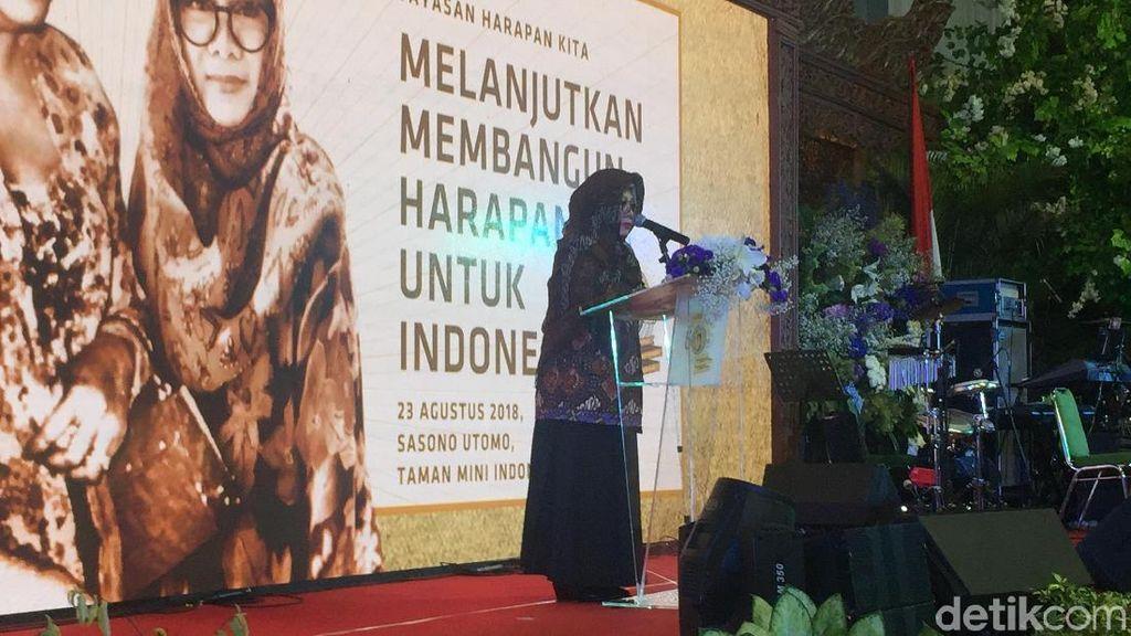 Tutut Soeharto Hadiri Puncak HUT 50 Tahun Yayasan Harapan Kita