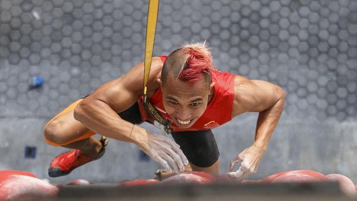 Aspa Jaelolo, atlet panjat tebing asal Jakarta (Hendra Nurdiyansyah/Antara Foto)
