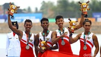 Medali perak itu diraih dari nomor Lightweight Mens 4 (kelas ringan empat putra) dalam lomba yang dihelat di Venue Rowing Jakabaring Sport City (JSC), Palembang, Kamis (24/8/2018).