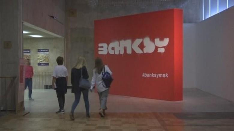 Banksy Berang Galeri Moskow Pamer Karyanya Tanpa Izin Foto: BBC