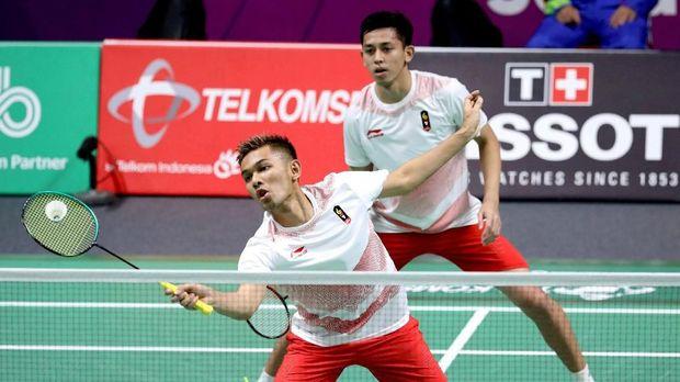 Fajar Alfian/Muhammad Rian Ardianto melaju ke perempat final Jepang Terbuka 2018.