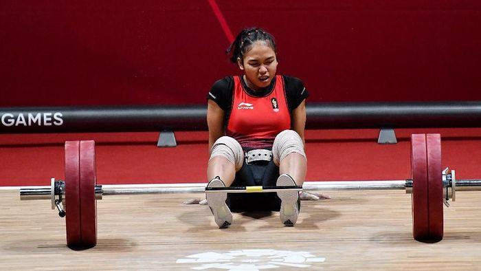 Acchedya Jaggadhita tersandung doping. (Foto: ANTARA FOTO/INASGOC/Helmi Afandi/YU/18)