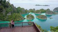 Tempat berfoto-foto dengan latar Pianemo dari ketinggian (Firdaus Anwar/detikTravel)