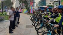 Melihat Polisi Berpatroli Naik Sepeda di Wisma Atlet Asian Games