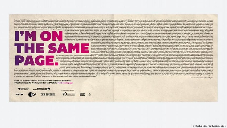 Frankfurt Book Fair (FBF) Gelar Kampanye 70 Tahun Deklarasi HAM PBB
