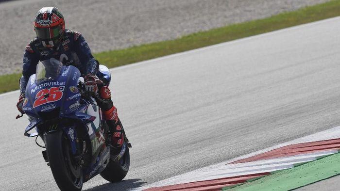 Maverick Vinales tercepat di sesi latihan pertama MotoGP Inggris. (Mirco Lazzari gp/Getty Images)