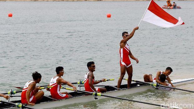 Muhad Yakin dkk. saat tampil di Asian Games 2018