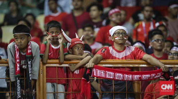 Para pendukung Timnas Indonesia yang selalu memberikang dukungan total skuat Merah Putih. (