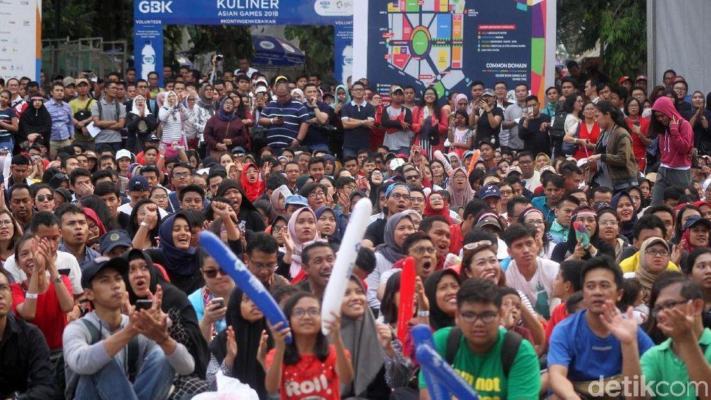 150 Ribu Orang Tumpah Ruah Nikmati Asian Games 2018 di GBK pada Akhir Pekan