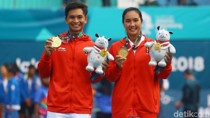 Aldila Sutjiadi dan Christopher Rungkat targetkan emas di SEA Games 2019 (Rachman Haryanto/detikSport)