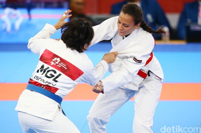 Simone Julia adalah atlet Jujitsu Indonesia untuk Asian Games 2018. Sayang dia belum berhasil mendapat medali (Grandyos Zafna/detikFoto)