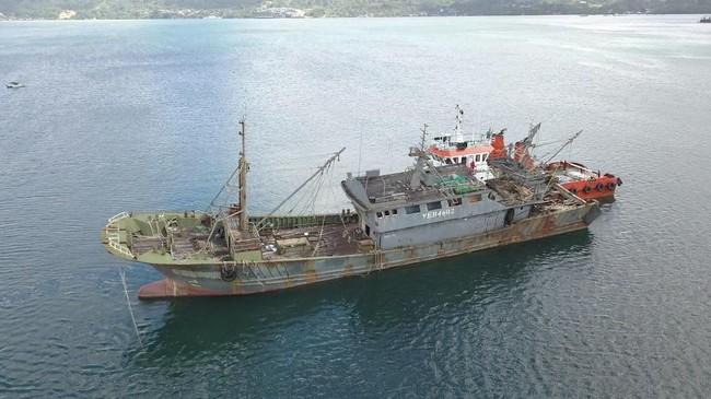 Puluhan Tahun Curi Ikan, Bajak Laut Ini Kandas di Laut RI