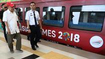 Video JK Naik LRT Tinjau Asian Games di Palembang