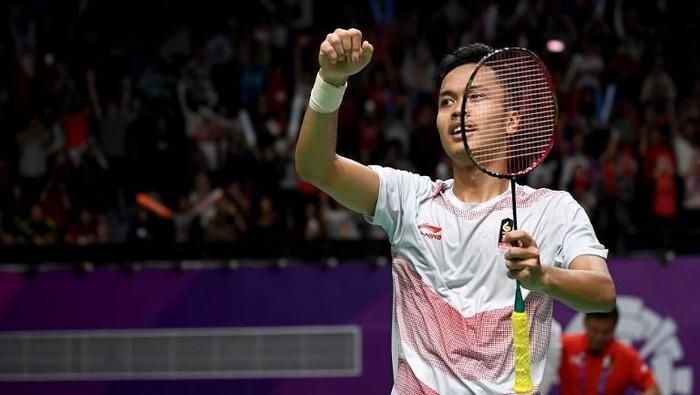 Anthony Ginting. (Foto: Sonny Tumbelaka/AFP Photo)