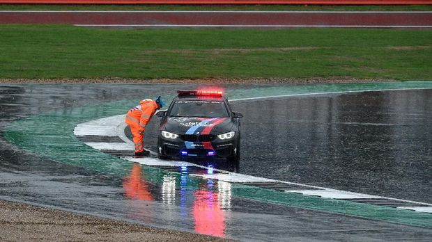 MotoGP Inggris musim lalu dibatalkan karena cuaca buruk.