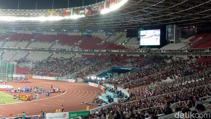 Suasana perlombaan atletik Asian Games 2018. (Foto: Amalia Dwi Septi/detikcom)