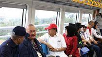 Tinjau Asian Games, JK Jajal LRT Palembang Sampai Jakabaring