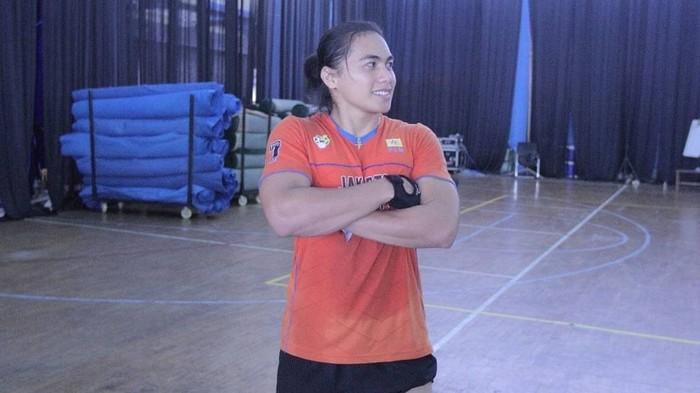 Wanita kelahiran 27 April 1992 ini disebut memiliki otot-otot yang kekar dibandingkan atlet putri lainnya. (Foto: Instagram/manganang)