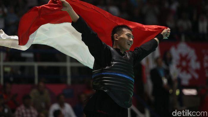 Iqbal Chandra Pratama ikut menyumbang emas untuk Indonesia dari pencak silat Asian Games 2018 (Agung Pambudhy/detikSport)