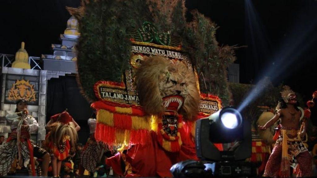 Serunya Menyaksikan Parade Reog di Tanjung Enim