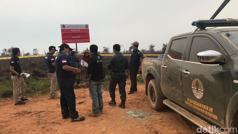 KLHK Segel Area Terbakar Milik 5 Perusahaan di Kalbar