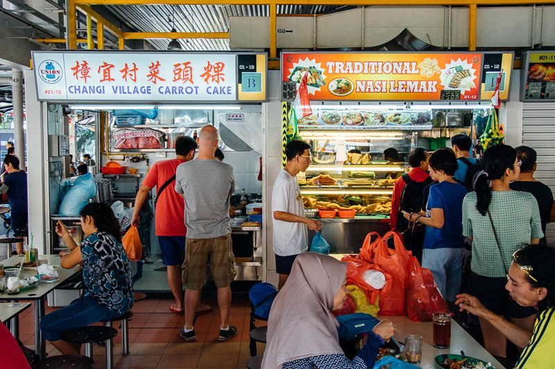 Budaya Makan Kaki Lima di Singapura