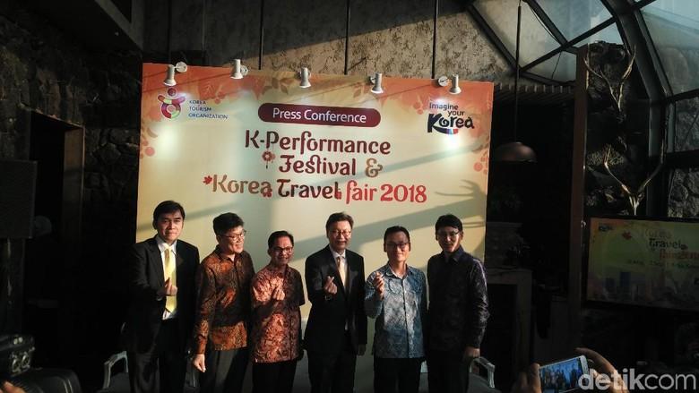 Suasana preskon KTO Travel Fair 2018 (Wahyu/detikTravel)