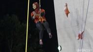 Detik-detik Aries Susanti Pecahkan Rekor Dunia Panjat Tebing