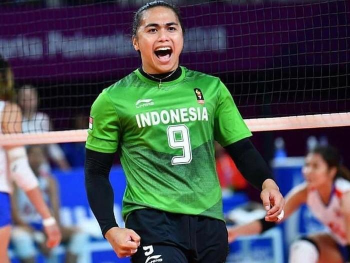 Dalam cabang olahraga voli putri Asian Games 2018, ada satu atlet yang menarik perhatian yaitu Aprilia Manganang. (Foto: Instagram/manganang)