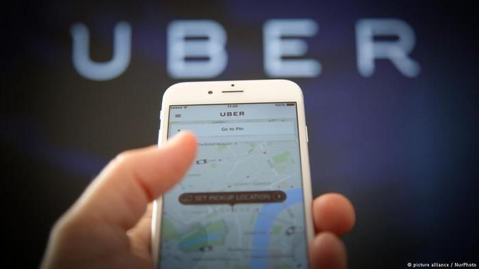 Ilustrasi Uber. Foto: DW (News)