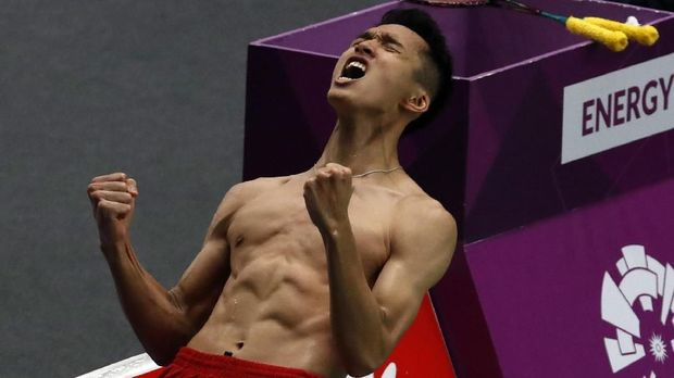 Jonatan Christie akan melakoni final tunggal putra melawan Chou Tienchen.