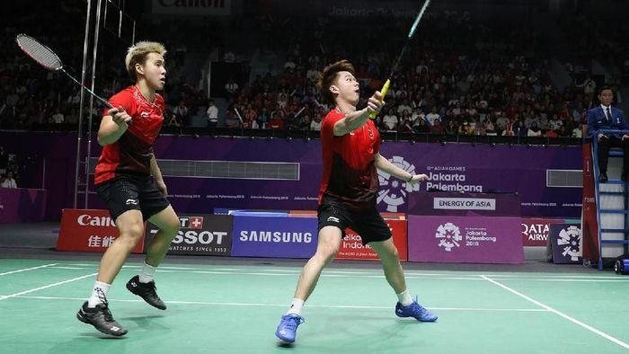 Kevin/Marcus meraih medali emas Asian Games 2018 dari bulutangkis nomor ganda putra (dok.PBSI)